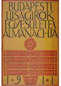 Budapesti Ujságirók Egyesülete Almanachja 1911