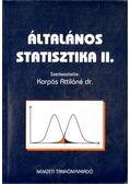 Általános statisztika II. - Dr. Korpás Attiláné