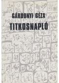 Titkosnapló - Gárdonyi Géza