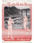 Kodak - Amatőr árjegyzék 1939