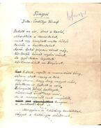 Tengeri című vers kézirata - Erdélyi József