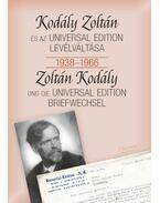 Kodály Zoltán és az Universal Edition levélváltása 1938-1966 - Bónis Ferenc