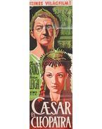 """A """"Caesar és Cleopatra"""" című színes világfilm kőnyomatú plakátja (1947)"""