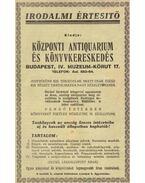 A Központi Antiquarium és Könyvkereskedés Irodalmi Értesítője