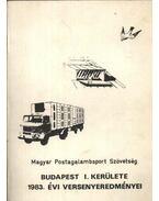 A Magyar Postagalamb Sportszövetség Budapest I. kerületének 1983. évi versenyeredményei