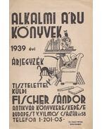 Fischer Sándor antikvár könyvkereskedésének 1939. évi árjegyzéke