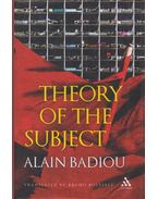 Theory Of The Subject - Alain Badiou