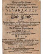 Geographisches Kleinod - Historia der Sevarambes. - Allais, Denis Vairasse d', Skinner, Thomas