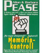 Memóriakontroll - Allan Pease,  Barbara Pease