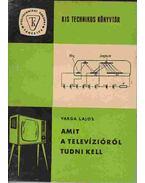Amit a televízióról tudni kell - Varga Lajos