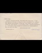 Áprily Lajos (1887–1967) költő, műfordító egy oldal terjedelmű, gépelt, aláírt levele Belia György (1923–1982) szerkesztőnek. (1964). - Áprily Lajos