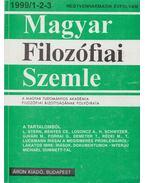 Magyar filozófiai szemle 1999/1-2-3 - Áron László