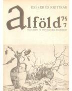 Alföld 1974/7. - Kovács Kálmán