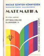 Optimalizálási eljárások II. - Kósa András