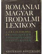 Romániai magyar irodalmi lexikon I-III. - Balogh Edgár