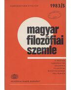 Magyar Filozófiai Szemle 1983/5 - Balogh István, Kéri Elemér, Nyíri Kristóf