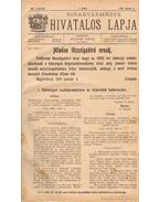 Biharvármegye hivatalos lapja 1910. (teljes) - Balogh János