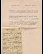 Veres Péter (1897–1970) egykori miniszter saját kézzel írt, két oldal terjedelmű levele Belia György (1923–1982) szerkesztőhöz - Belia György, Veres Péter
