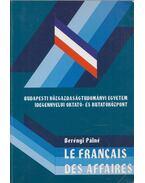 Le francais des affaires - Berényi Pálné