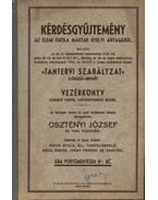 Kérdésgyűjtemény az elemi iskola magyar nyelvi anyagából - Osztényi József