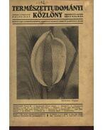 Természettudományi Közlöny 1935 évfolyam - Szabó-Patay József, Gombocz Endre