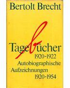 Tagebücher 1920-1922 - Brecht, Bertolt