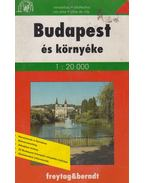 Budapest és környéke 1:20 000