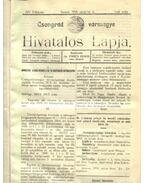 Csongrád vármegye Hivatalos Lapja 1916. - Csúcs János