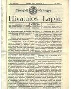 Csongrád vármegye Hivatalos Lapja 1913. - Csúcs János
