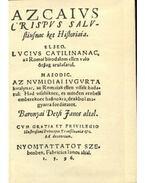 Az caius crispus sallustiusnak két históriája - Baranyai Decsi János