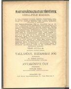 Vallásügy, Házassági jog - Térfy Gyula