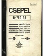 CSEPEL D-750.30 teherautó alkatrész katalógus - Tálas Anna (szerk.)