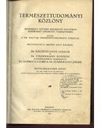 Természettudományi közlöny 1067-1078. füzet és 205-208. pótfüzet - Szabó-Patay József,dr., Gombocz Endre