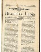 Csongrád vármegye Hivatalos Lapja 1912. - Csúcs János