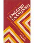 English Examined - COX, ALWYN, Neville Grant, Helen O'Neill