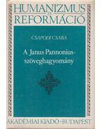 A Janus Pannonius-szöveghagyomány - Csapodi Csaba