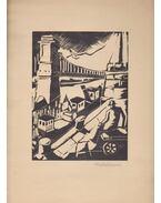 Budapesti képeskönyv (Aláírt ólommetszetek) - Cselényi Walleshausen Zsigmond