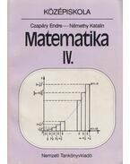 Matematika IV. - Czapáry Endre