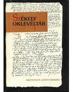 Székely oklevéltár I. - Demény Lajos, Pataki József