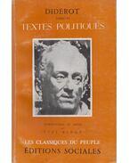 Textes Politiques - Diderot, Denis