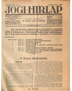 Jogi hirlap 1935. IX. évfolyam 1-52. szám (teljes) - Dr. Boda Gyula (szerk.)