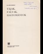 Tájak, falvak, hagyományok. [Tanulmányok.] (Dedikált.) - Dr. Kós Károly