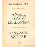 Angol szavak elválasztása - Dr. Rapcsák Lajos