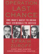 Operation Last Chance - Efraim Zuroff