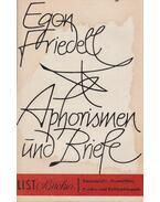 Aphorismen und Briefe - Egon Friedell