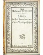 Beispielsammlung zur älteren Musikgeschichte - Einstein, Alfred