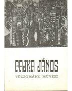 Fajka János tűzzománc művész kiállítása (meghívó)