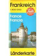 Frankreich Ländkarte