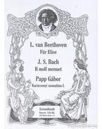 Für Elise / H moll menuett / Karácsonyi szonatina I. - Beethoven, Ludwig von, Papp Gábor, J. S. Bach