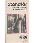 Látóhatár 1984 április - Garai Gábor